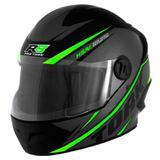 Capacete Moto R8 Fechado Verde - Pro Tork