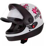 Capacete pro tork sport moto for girls branco tam 56