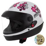 Capacete Sport Moto For Girls Branco Pro Tork