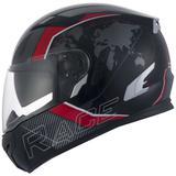 Capacete zeus 813 race an10 matt black/red - special edition