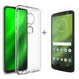 Capinha para Motorola Moto G6 Play Silicone Ultra fina Casca de Ovo + Película - Hrebos