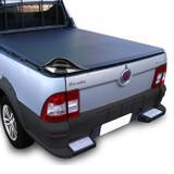 Capota Marítima Fiat Strada Cabine Simples 1998 A 2013 Modelo Baguete Com Grade Gancho Sem Estepe - Flash cover