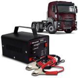 Carregador Bateria Automotivo Para Caminhão Shutt Bivolt 12V 5A 60W Led Indicador Auxiliar Partida
