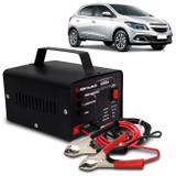Carregador Bateria Automotivo Para Carro Shutt Bivolt 12V 10A 120W Led Indicador Auxiliar De Partida