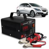 Carregador Bateria Automotivo Para Carro Shutt Bivolt 12V 5A 60W Com Voltímetro Digital