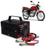 Carregador Bateria Automotivo Para Moto Shutt Bivolt 12V 5A 60W Com Led Indicador Auxiliar Partida