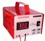 Carregador De Bateria 12v Com Voltímetro Lento E Rápido Cv20 - Trafotron