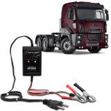 Carregador de Bateria Led Automotivo Para Caminhão Shutt 12V 2000mAh 24W Auxiliar Partida Indicador
