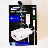Carregador Samsung Turbo fast Qualcomm 3.0 30W smartphone J4 J5 J6 J7 J8 Prime Pro V8