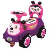 Carrinho Andador Bebê Joaninha Infantil Musical E Luz  Rosa - Dm toys
