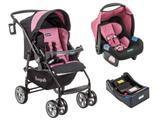 Carrinho At6 K com Bebê Conforto e Base Preto Rosa Burigotto
