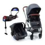 Carrinho + Bebê Conforto + Base Isofix Cinza Infanti Dorel