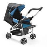 Carrinho com Bebê Conforto Travel System Flip Azul-Multikids