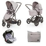 Carrinho de Bebê ABC Design Como 4 Woven Grey + Moisés + Bebê Conforto