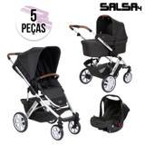 Carrinho de Bebê ABC Design Salsa 4 + Moisés + Bebê Conforto Piano