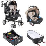 Carrinho de Bebê AT6 K + Touring Evolution SE BEGE + Base + Ninho - Burigotto