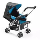Carrinho de Bebê Berço Flip Azul - Multikids - BB503 - Multikids baby