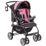Carrinho de Bebê Burigotto At6 K Reversível Preto e Rosa IXCA2055PR05