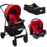 Carrinho de Bebe Burigotto Ecco com Bebe Conforto e Base Red