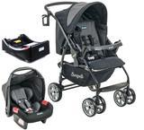 Carrinho de Bebe com Bebe Conforto e Base Burigotto AT6 K Preto e Cinza