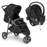Carrinho de Bebê Cross Galzerano Black 3 rodas + Cocoon Preto