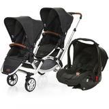 Carrinho de Bebê Para Gêmeos ABC Design Zoom + Bebê Conforto Piano