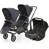 Carrinho de Bebê Para Gêmeos ABC Design Zoom + Bebê Conforto Style Street