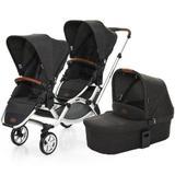 Carrinho de Bebê Para Gêmeos ABC Design Zoom + Moisés Piano