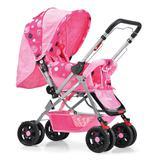 Carrinho de Bebê Prime Baby Rover com Alça Reversível - Rosa