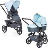Carrinho de Bebê Salsa 3 Rodas com Moisés Ice (Azul) - ABC Design
