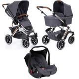 Carrinho de Bebê Salsa 4 Rodas Asphalt (Linha Diamond) + Bebê Conforto - ABC Design