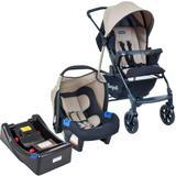 Carrinho de Bebê Travel System Burigotto Ecco Bege + Base