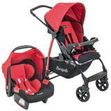 Carrinho de Bebê Travel System Burigotto Ecco + Touring Evolution Se Red