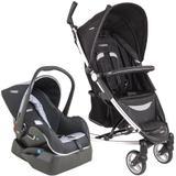 Carrinho de Bebê Travel System Helios Preto + Casulo + Base - Kiddo