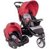 Carrinho de Bebê Travel System Kiddo Fox + Cosycot Vermelho