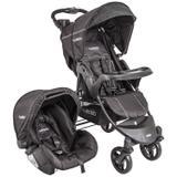 Carrinho de Bebê Travel System Omega Preto + Bebe Conforto Cosycot - Kiddo