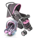 Carrinho de Bebê Travel System Reverse Rosa - Cosco