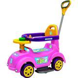 Carrinho e Andador Rosa Baby Car para Bebê com Empurrador - Biemme