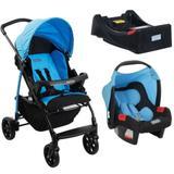 Carrinho Ecco Iris (Azul) com Bebê Conforto Touring Evolution SE + Base - Burigotto