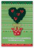 Cartão Artesanal Árvore Com Corações - Fina Ideia - Fina idéia