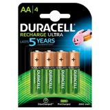 Cartela c/ 4 pilhas AA recarregáveis Duracell Duralock, modelo DX1500