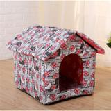 Casa casinha pet para caes, cachorro e gatos dobravel cama portatil com almofada - Faça  resolva