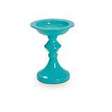 Castiçal Vidro Suporte De Vela 13X10Cm Decoração Azul - Cromus decor