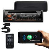 CD Player Pioneer DEH-S4180BT 1 Din Interface Android Mixtrax Spotify BT MP3 USB AUX FM Com Controle