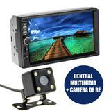 "Central Multimidia 7"" Automotivo Espelhamento Camera Re Bluetooth Usb Radio 2 Din - Ab midia"