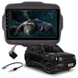Central Multimídia 9 Pol JEEP RENEGADE Gps Android USB AUX - First option