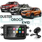 Central Multimídia Android Duster Oroch kwid Câmera Gps Espelhamento iOS - Uberparts