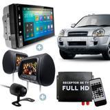 Central Multimídia Android Tucson TV GPS Cam Par de telas - Uberparts