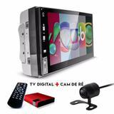 Central Multimídia Android  Tv Gps Câmera de ré Espelhamento iOS - Uberparts