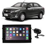 Central Multimídia Chevrolet Cobalt 2011 a 2019 7 Polegadas MP5 USB Bluetooth Espelhamento iOS Android + Câmera de Ré - Gold